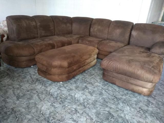 Sofá de canto c/ puff e chaise - 2,90 x 2,50 - entrego! - Foto 4