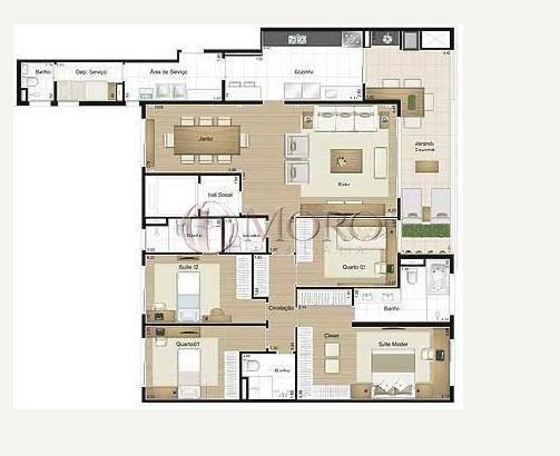 Apartamento à venda com 4 dormitórios em Água verde, Curitiba cod:9289-MORO - Foto 16