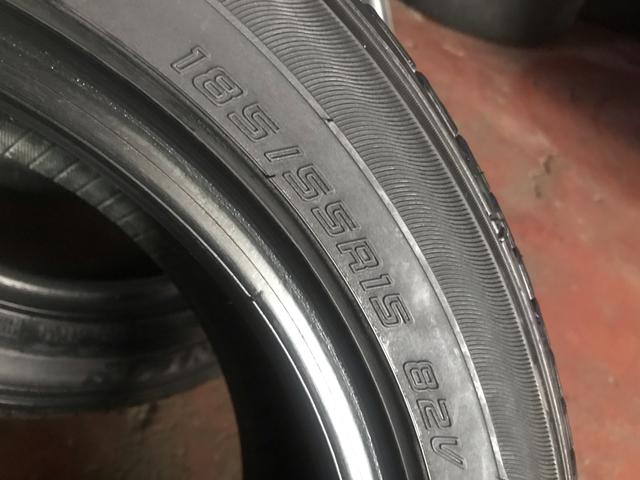 Kit de 4 pneus 185/55/15 meia vidas bons - Foto 3