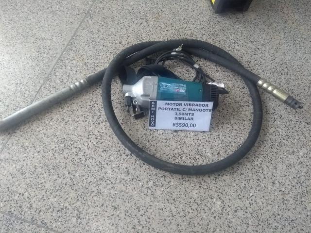 Motor Vibrador Portátil c/ Mangote 3,5 M Similar ao Bosch Importado - Foto 2