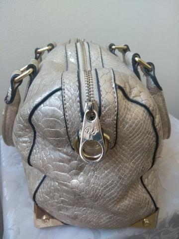 Bolsa metalizada dourada WJ - Foto 2