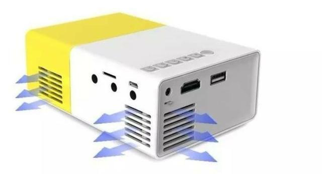 Mini projetor LED - 100 polegadas- videos filmes fotos - Foto 4