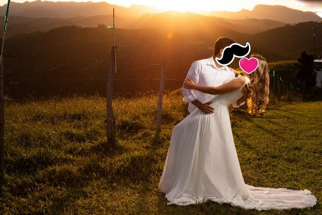 Vestido de Noiva Off White - Exclusivo - Foto 3