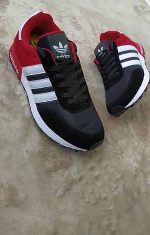 Tênis Adidas Neo Preto vermelho (SALDÃO) - Foto 4