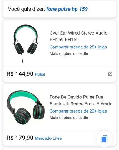 """Fone PULSE HP159 """" Promoção NOVEMBRO BLACK FRIDAY """" R$ 50,00 *ORIGINAL - Foto 5"""
