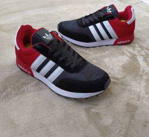 Tênis Adidas Neo Preto vermelho (SALDÃO)