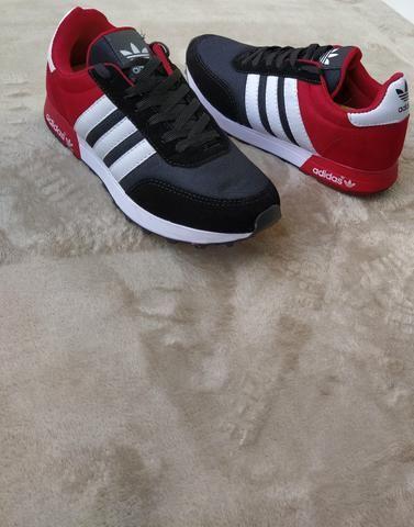 Tênis Adidas Neo Preto vermelho (SALDÃO) - Foto 3