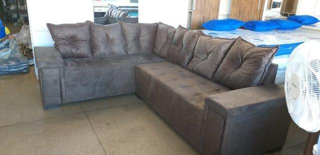 Sofa de canto super confortavel 2.60x2.00 apenas 799 a vista dinheiro - Foto 2