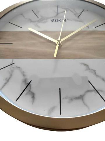 Relógio de Parede Dourado - Foto 2