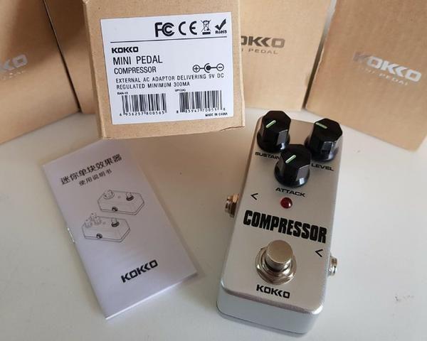 Pedal Booster compressor distorção distortion overdrive Kokko guitarra violão baixo - Foto 4