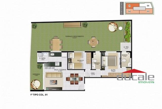 Davi Amarante Apartamento 2 quartos suíte em Bento Ferreira - Foto 16