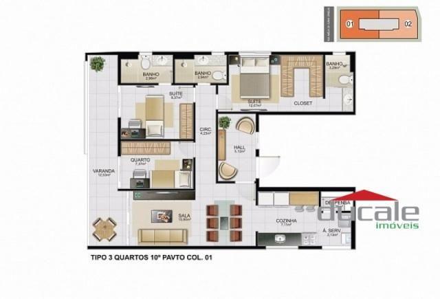 Davi Amarante Apartamento 2 quartos suíte em Bento Ferreira - Foto 10