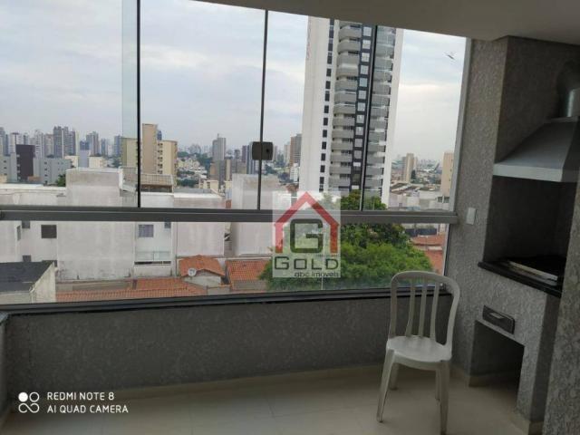 Apartamento com 3 dormitórios para alugar, 88 m² por R$ 2.000,00/mês - Campestre - Santo A - Foto 4