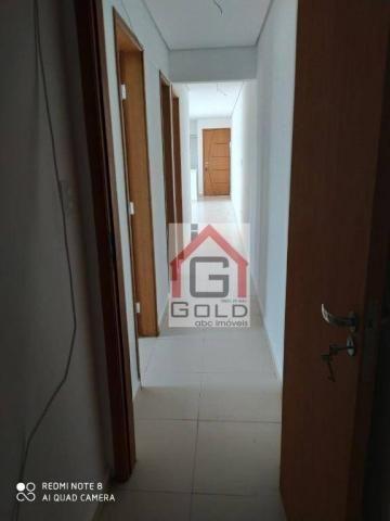 Apartamento com 3 dormitórios para alugar, 88 m² por R$ 2.000,00/mês - Campestre - Santo A - Foto 9