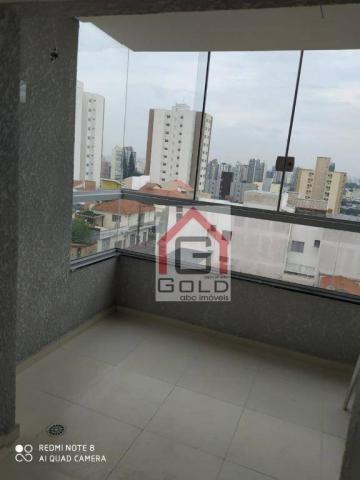 Apartamento com 3 dormitórios para alugar, 88 m² por R$ 2.000,00/mês - Campestre - Santo A - Foto 2