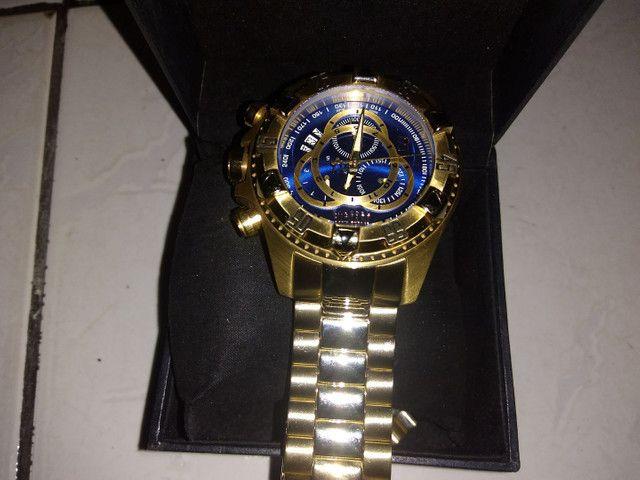Relógio invicto original banhado a ouro