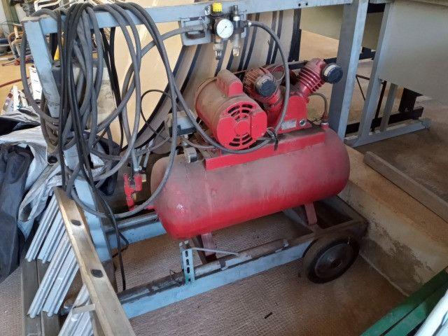 Compressor 146 litros semi novo