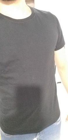 Camisa lisa 100% algodão