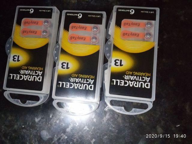 Baterias para aparelho auditivo 16.00cada cartela