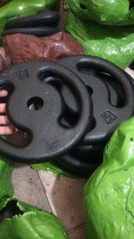Anilhas/Halteres pintado/Emborrachado, a partir R$ 7,80 o kg, Produto Novo