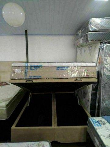 Base box bau super King, cama baú casal, base box Queen - Foto 5