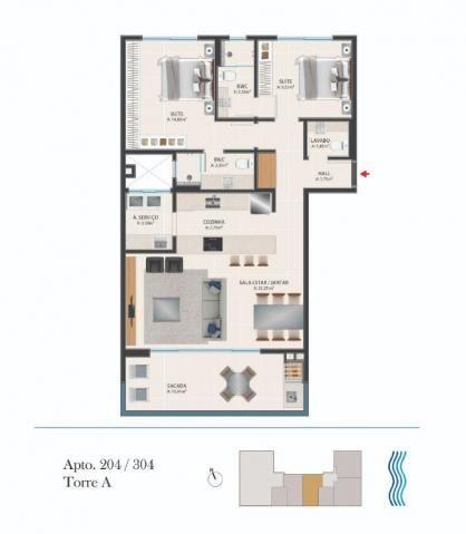 Apartamento com 2 dormitórios à venda por r$ 1.412.500 - novo campeche - florianópolis/sc - Foto 8