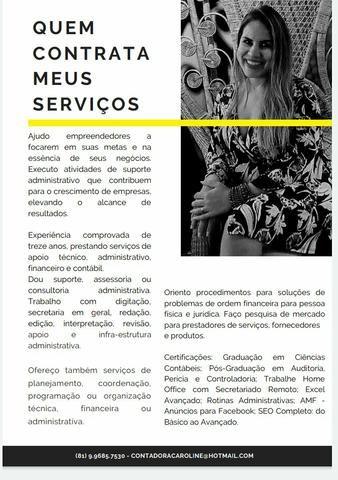 Serviços administrativo, financeiro e contábil