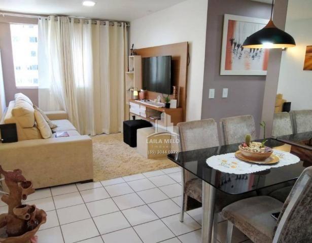 Apartamento com 3 dormitórios à venda, 53 m² próximo ao mega atacadista- cambeba - fortale - Foto 2