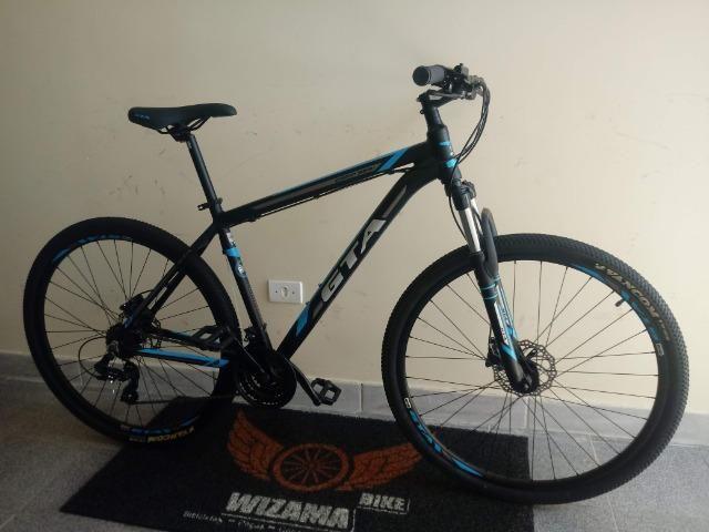 Bicicleta Aro 29 Freio Hidraulico Suspensão c\ Trava 10X S\ Juros - Foto 3