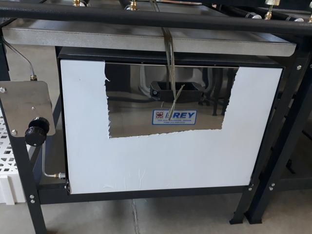 Fogão 4 bocas com Forno Alta Pressão Linha Stand - Metal Brey - Foto 2