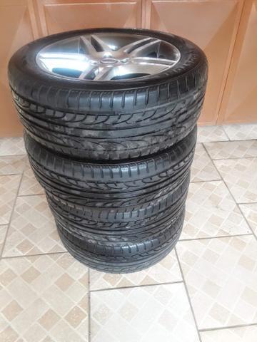 Rodas 17 com pneus zerados - Foto 2