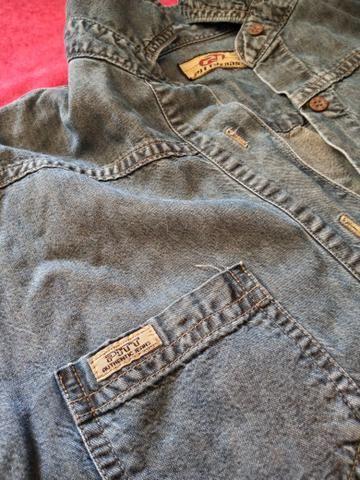 Conjunto camiseta + short + camisa jeans - Foto 5