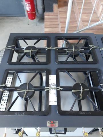 Fogão 4 bocas com Forno Alta Pressão Linha Stand - Metal Brey - Foto 4