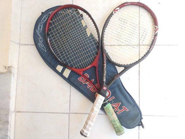 Combo 2 Raquetes de Tênis - Pro Kennex e Pro Staff 97 Wilson - Foto 5