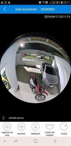 Lâmpada câmera espiã 360° monitore tudo pelo seu celular em tempo real - Foto 2