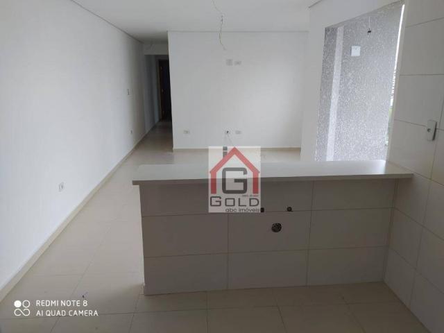 Apartamento com 3 dormitórios para alugar, 88 m² por R$ 2.000,00/mês - Campestre - Santo A - Foto 6