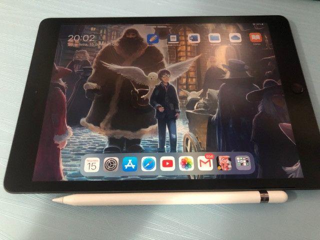 IPad 7 geração 32gb com garantia até julho/2021 + apple pencil inclusa!