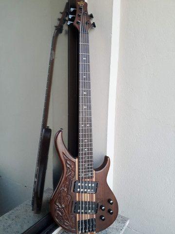 Bass Tagima Century 5(Brasil)c/ capt Bass Line parcelo cartão/ML valio troca