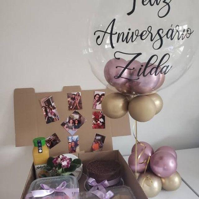 Festa na caixa com balão  - Foto 3