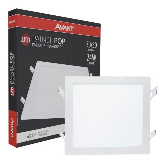 Painel 24w qd emb 6500K (30x30) Avant