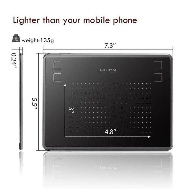 Tablet/Mesa Digitalizadora Huion Inspiroy 430p profissional NOVO - Foto 4