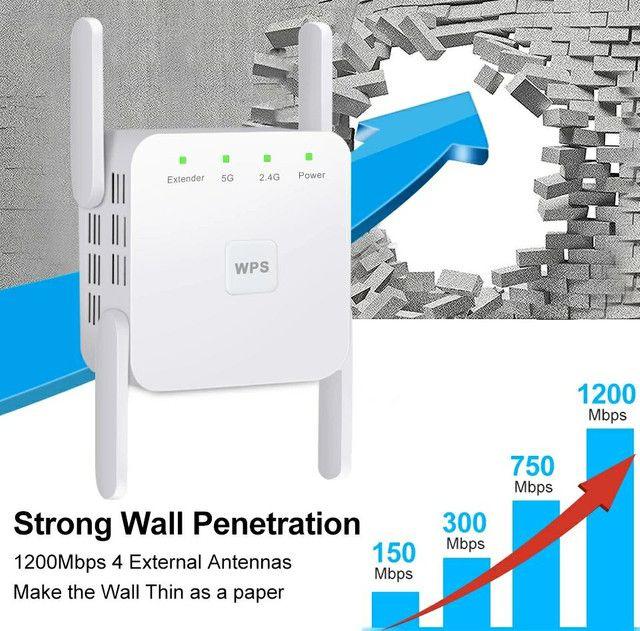 Repetidor de WiFi 2.4 GHz e 5.0 GHz 1200 Mps- NOVO - Foto 2