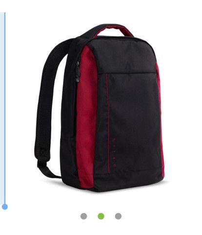 Mochila para notebook Acer Nitro 15,6 Resistente a Água, preto com vermelho! Nova! - Foto 2