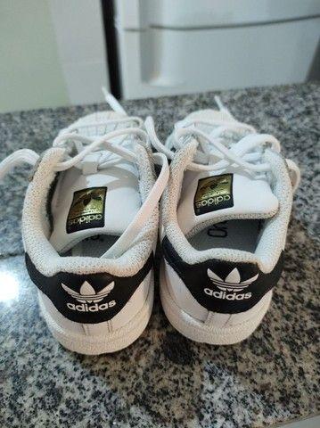 Tênis Adidas superstar - tamanho 21