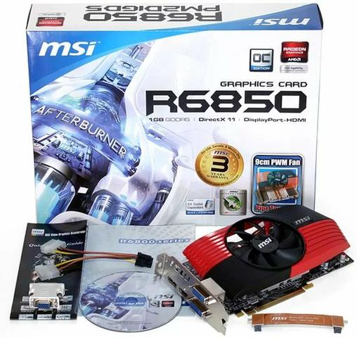 Placa de vídeo HD 6850 1Gb GDDR5