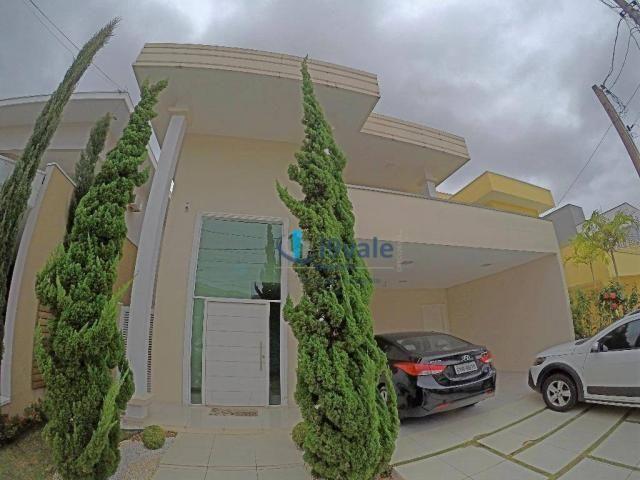 Linda casa à venda condomínio crystal park, área lazer privativa, vista para reserva ambie