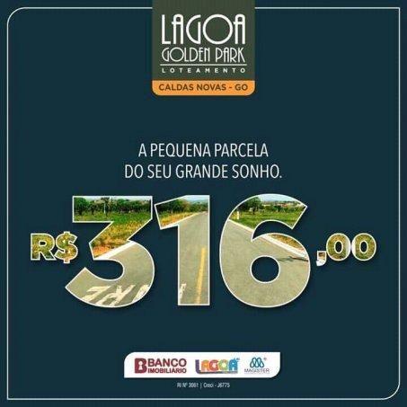 lotes parcelados Lagoa G. Park caldas novas - Lote a Venda no bairro Setor Lagoa... - Foto 7