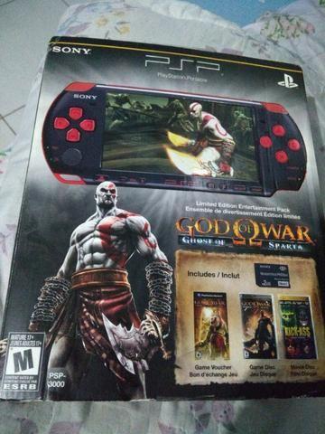 PSP edição limitada god of war