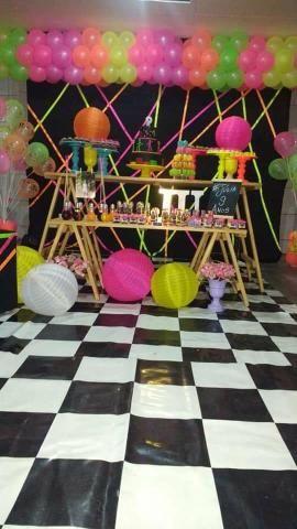 Festa neon em kit paletes - Foto 4