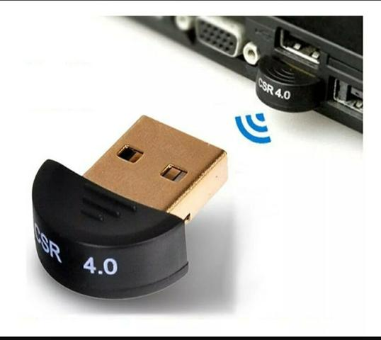 Adaptador Bluetooth 4.0 Para Pc Ou Note - Windows 7 8 10 Usb - Foto 2